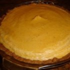 Mary's Pumpkin Chiffon Pie - A light and fluffy version of pumpkin pie has a buttery graham cracker crust.