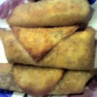 Mexican Egg Rolls - These are easy and delicious!  Use them as an appetizer, or as a main dish.  As an appetizer, serve with salsa.  As a main dish, serve on a bed of lettuce with all the taco fixin's you love.