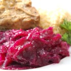 German Red Cabbage - If your family likes the sweet-tart flavor found in many German dishes, they'll enjoy this recipe. The cabbage, apples and onions are cooked with vinegar, sugar and a variety of spices-the end result can't be beat!