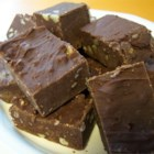 One Bowl Chocolate Fudge - Microwave fudge made with semi-sweet chocolate and sweetened condensed milk.