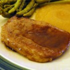 Super Simple Pork Chops - Pan fried pork chops with a sweet apple maple glaze is a quick and easy main dish.