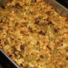 Cornbread Dressing I - Crumbled cornbread and sausage, plus biscuits and chopped hard-boiled eggs, make up this delicious dressing or stuffing. Makes enough to stuff a 10- to 15-pound turkey.