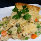 Simple, Classic Chicken Potpie - Shredded rotisserie chicken and sherry lend this classic potpie a rich, comforting flavor.