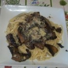 Linguine with Portobello Mushrooms - Meaty portobello mushroom slices are tossed with fresh herbs and linguine.