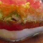 Mike's Taco Dip - A Southwestern-style layered dip that trips you up with a few surprise additions--soy sauce, for one!