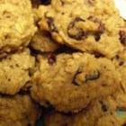 Autumn Harvest Cookies - Walnuts and cranberries and the flavors of orange and pumpkin pie spice add a delightful twist to these oatmeal-raisin cookies.