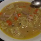 Polish Chicken and Dumplings - This is an old family recipe for the dumplings, which were originally Polish egg noodles (kluski), and over the years I have modified it to make homemade dumplings. The broth is seasoned with basil, allspice, and poultry seasoning.