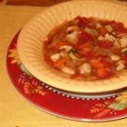 Chicken Veggie Soup II - This is a great tasting, simple to make soup. It consists of diced chicken breast with an array of mixed vegetables. It's relatively low in fat and high in taste.