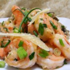 Shrimp Verde - This quick and easy dish of shrimp sauteed in garlic, green onions and Italian parsley, then topped with freshly grated Parmesan cheese, works great as an appetizer, side dish or main dish.