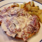 Creamed Chipped Beef On Toast - Dried beef in a white sauce with a pinch of cayenne makes an American standard to serve over toast.