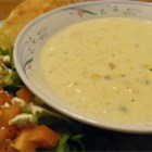 Poblano Corn Chowder - A thick blend of richness, spice, and flavor - this exciting chowder will leave you wanting another bowl (or another piece of bread for dipping).
