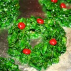 Christmas Wreaths - These Christmas wreaths are made using corn flakes and cinnamon candies. They're fun to make and eat.