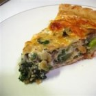 Feta Veggie Quiche - Use up what's in your fridge in this simple quiche with Mediterranean flavors.