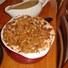 Charline's Sweet Potato Casserole - A great sweet potato casserole recipe -- my children insist on this every holiday! Lots of miniature marshmallows, coconut and pecans make this an extra special and yummy Thanksgiving delight. Use fresh or canned sweet potatoes. Prepare the topping while the casserole is baking.