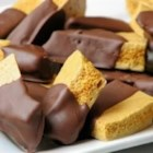 Angel Food Candy - This crunchy honeycomb candy is dipped in a chocolate coating.