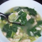Spinach and Leek White Bean Soup - White bean soup with spinach and leeks is a delicious and filling soup that is perfect for vegetarians if you use vegetable broth, and quick to make. I've been making this soup for years, but I really craved it when I was pregnant with my fourth child.