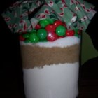 Candy-Coated Chocolates Cookie Mix In A Jar - Sweet and tantalizing candy-coated chocolates cookies. Place the mix in a jar to give as a gift. Include a tag with the baking directions.