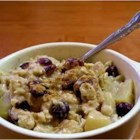 Christmas Morning Oatmeal - Prepare overnight oatmeal for Christmas morning by taking advantage of your slow cooker. Mix old-fashioned rolled oats with apple and cranberry juices, nutmeg, cinnamon, brown sugar, sliced apples, and dried cranberries to make a special holiday breakfast.