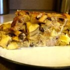 Apple Raisin French Toast Strata - A simple but elegant way to make breakfast fast. Put together the night before, and bake while you're in the shower. Serve with lots of extra maple syrup! You may also add extra raisins if you wish.