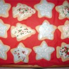 Shaped Vanilla Cookies - These are soft, cake-like cookies, best with frosting.  Roll them out thickly, and bake no more than 8 minutes. They will stay soft, and everyone raves over them.  I use them as cutouts for holidays.