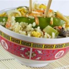 Vegetable Lovers' Fried Rice - Plenty of crisp vegetables are served with fried rice in this tasty, simple dish.