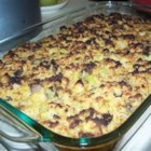 Oyster and Cornbread Dressing - Each year I am asked to make this wonderful dressing. The recipe has been in my family for years. Chopped oysters and chicken broth make it very moist and flavorful. For an even more moist dressing, use more chicken broth.