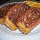 Chuck's Molasses French Toast - The molasses in the batter gives this version of the classic breakfast food a caramel coating that is quite delicious. This one also proves to be a great way to use up the left over Challah from Shabbat on a Saturday morning.
