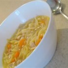 Swanson(R) Sensational Chicken Noodle Soup - Swanson(R) Chicken Broth provides the perfect base for this home style soup packed with carrots, celery, shredded cooked chicken and extra wide egg noodles.