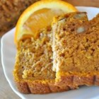 Orange Pumpkin Loaf - A whole orange is ground to make this moist pumpkin loaf. Good with an orange butter or cream cheese spread, or simply enjoyed plain.