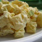 Classic American-Style Potato Salad - Most potato salads look and taste better when made with low-starch red boiling potatoes. For Classic American-Style Potato Salad, you can use any size of this variety, but the small new potatoes cook 10 to 15 minutes faster than the larger ones. Choose potatoes that are all roughly the same size, if possible, so they cook in the same time.