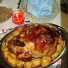 Greek Traditional Turkey with Chestnut and Pine Nut Stuffing - This is my grandmother's old recipe for a delicious turkey roasted in lemon, orange, and tangerine juice, and stuffed with meat, roasted chestnuts, and pine nuts. An excellent recipe for everybody who loves Greek cuisine.