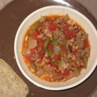 Slow Cooker Hoppin' John Chowder - A really easy Southern chowder good for a New Years Day meal or cold winter evening. Serve it with a green salad and cornbread.