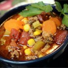 Hamburger Soup I - A simple soup made with ground beef and vegetables. Try it with homemade bread.