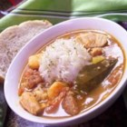 Creole Gumbo - Chicken, sausage and shrimp get a zesty Cajun treatment in this thick soup.