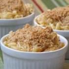 Chuck's Favorite Mac and Cheese - Macaroni is mixed with shredded Cheddar, Parmesan, cottage cheese and sour cream, then topped with bread crumbs and baked.