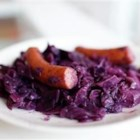 Polish Sausage with Red Cabbage - Truly satisfying kielbasa with cabbage, simmered in a thickened red wine and lemon sauce.  Beef broth may be substituted for the red wine.