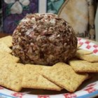 Cheese Log - This is an easy recipe for a cream cheese and chopped beef log rolled in pecans.