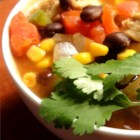 Chipotle Chicken Soup - The smokiness of the chipotle, coupled with the black beans, creates a dish with the perfect blend of ingredients.