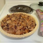Mock Mincemeat Pie - A medley of apples, raisins, orange zest, apple and orange juices are simmered in this family version of mincemeat. Make the filling in advance and refrigerate until ready to use, or bake immediately in a double-crust pie. If desired, stir 1 to 2 tablespoons of brandy into the filling to enrich the flavors.