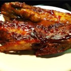 Finger Licking Ribs - Bite-sized pieces of pork spareribs are simmered until tender in a simple, savory sweet sauce.