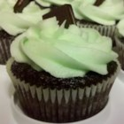 Mint Buttercream Frosting With Dark Chocolate Glaze - This is a good frosting for Mayonnaise Cake. If you're really having a chocolate fit, double the glaze!  The frosting and cake are rich enough to cut the unsweetened chocolate taste.  Pour some glaze on the middle layer too.