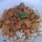 Easy Chickpea Curry - A rich chickpea and potato curry with coconut milk and Indian spices is surprisingly easy to make.