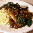Chicken Marsala Florentine - This is a gorgeous chicken dish with sun-dried tomatoes, spinach, and mushrooms. It is so wonderful when served with garlic mashed potatoes. It tastes fantastic!
