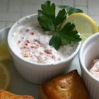 Swedish Sour Cream and Caviar Sauce for Salmon - A terrific, creamy sauce to serve with grilled salmon, steamed artichokes, and boiled new potatoes in the summertime. Wonderful with salmon, it's also great with other more mild fish dishes.