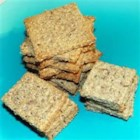 NY Style Rye Crackers - These crispy rye crackers are seasoned with caraway, garlic, and onion powder.