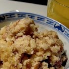 Millet Delight - A casserole made of millet, dates, coconut, and vanilla makes for a delicious and nutritious breakfast.