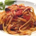 Pasta Puttanesca - This is a great dish with wonderful Mediterranean flavors and it can be scaled up to serve more people.  Add ingredient amounts to your liking.
