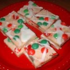 Merry Cherry Bars - It just wouldn't be Christmas at my house without these special bar cookies- so pretty using red and green maraschino cherries and candy coated chocolates.