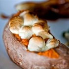 Twice-Baked Sweet Potatoes With Mini Marshmallows - Twice-Baked Sweet Potatoes are very do-ahead. If you find yourself in a pre-feast frenzy, skip spooning them back into the sweet potato cups and just warm the puree and serve it as is.