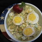 Cottage Cheese Potato Salad - Cottage cheese makes a creamy addition to a family recipe for potato salad.